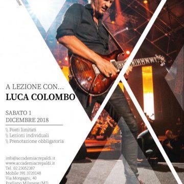 Lezioni di chitarra con Luca Colombo all'Accademia Musicale Crepaldi