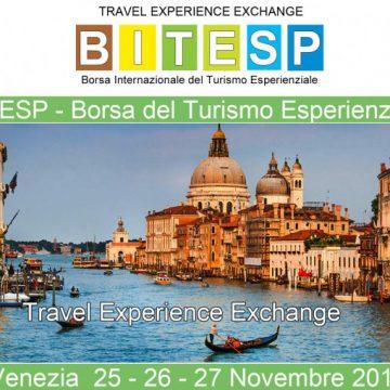 Torna a Venezia BITESP,  BORSA INTERNAZIONALE DEL TURISMO ESPERIENZIALE – 25/26/27 novembre 2019