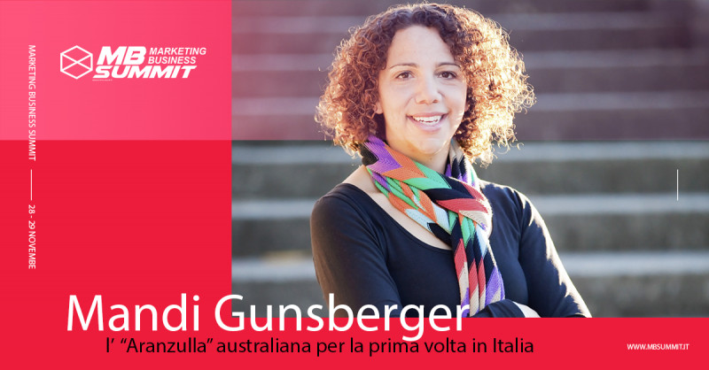 "Mandi Gunsberger: l' ""Aranzulla"" australiana per la prima volta in Italia al Marketing Business Summit 2019"