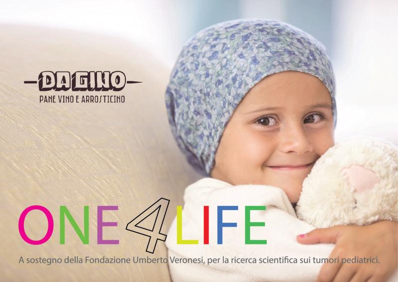 ONE 4 LIFE: raccolta fondi a sostegno della ricerca scientifica sui tumori pediatrici.