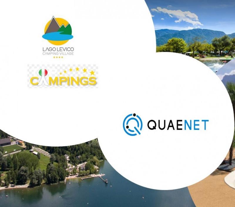 """QUAENET ITALIA arriva a LEVICO TERME (Trento) e rende """"smart"""" il Lago Levico Camping Village"""