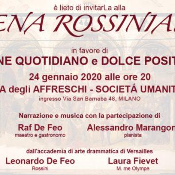 Il Rotary Club di Milano Porta Venezia organizza: Cena Concertante alla Rossini