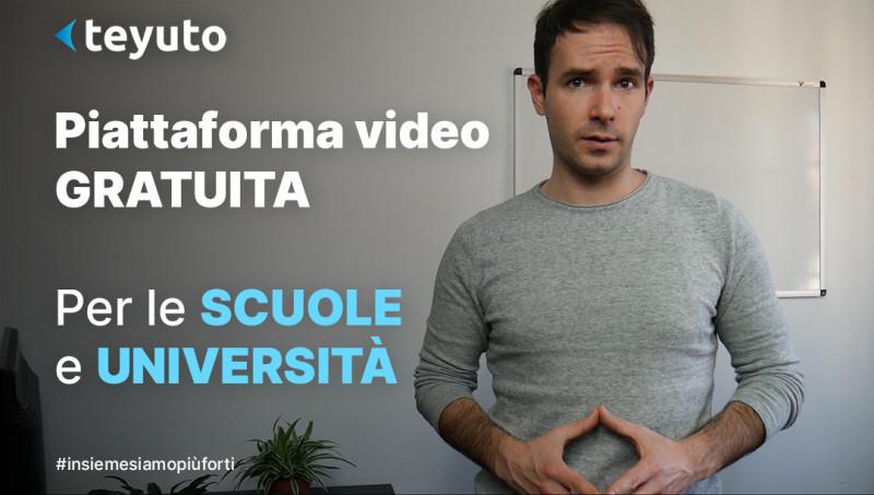 Piattaforma video gratuita a tutte le scuole e università italiane