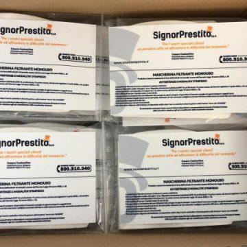 Coronavirus: SignorPrestito SpA dona 100.000 mascherine ai propri clienti, un gesto concreto di solidarietà