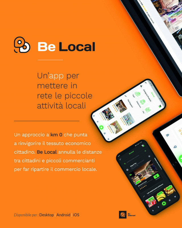 BE LOCAL: UN'APP PER LA RIPARTENZA DEL COMMERCIO LOCALE