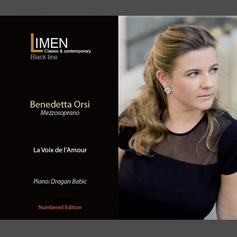 Parla italiano il cd medaglia d'oro come miglior disco ai Global Music Awards, La Voix de l'Amour, del mezzosoprano italo-americano Benedetta Orsi