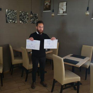 """""""10.000mila euro di spese fisse al mese e lo Stato vuole farmi riaprire con solo 3 tavoli"""", la storia di un ristoratore romano"""