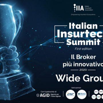 """Wide Group SpA vince nella categoria """"il Broker più innovativo"""" degli Italian Insurtech Awards 2020"""