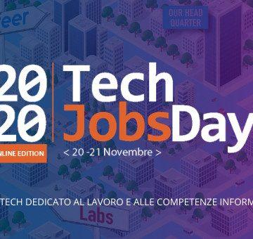 20-21 novembre TechJobsDay2020 – Le aziende a caccia di talenti per il settore informatico