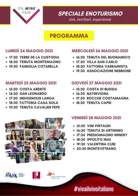 ON-WINE FAIR Speciale Enoturismo: un viaggio nelle terre del vino italiano, dal 24 a 28 maggio 2021